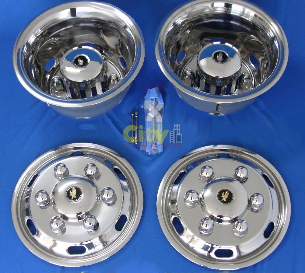 """Stainless Steel Wheel Simulator Suit 17.5"""" Hino / Isuzu P#ISRT-175-6DP"""