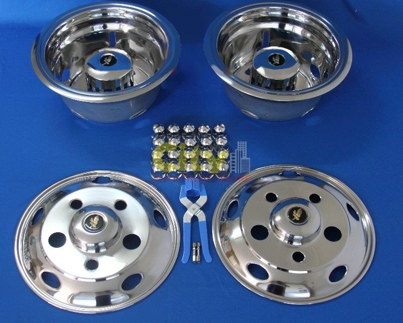 "Stainless Steel Wheel Simulator Suit 16"" Wheels with 115mm Offset P# ISRT-535"