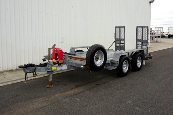 1996 Rogers & Sons Dual Axle Galvanised Plant Trailer