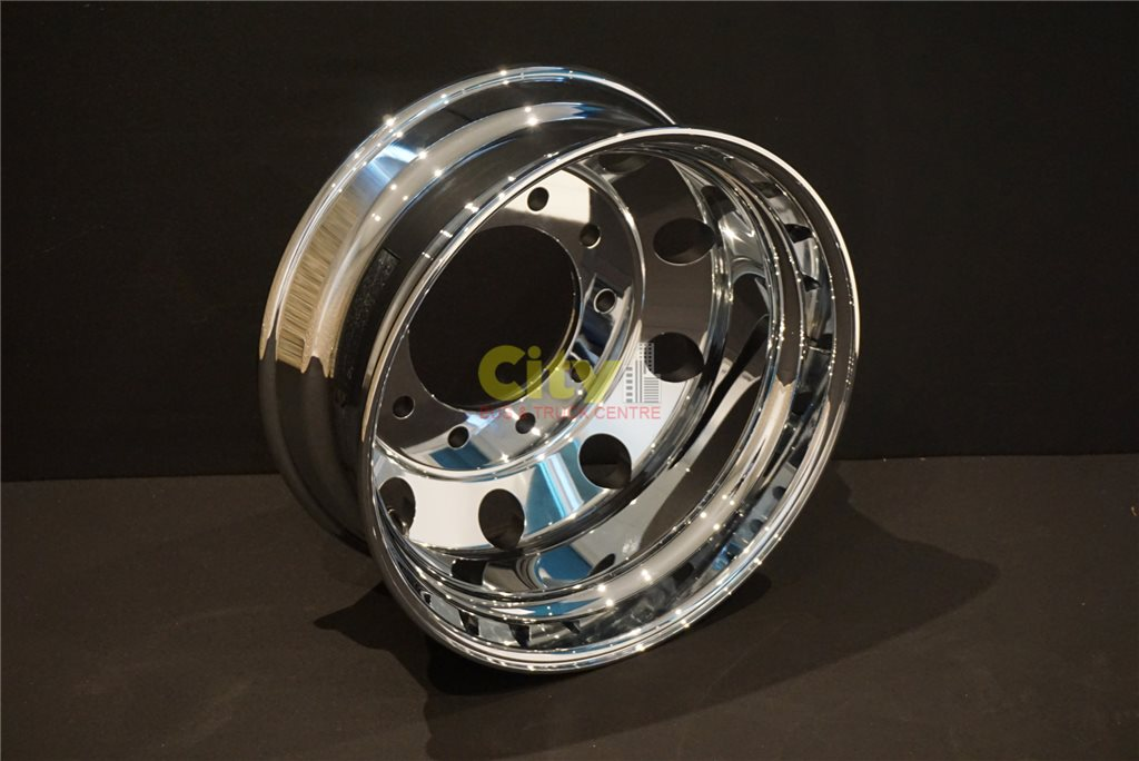 10/285 8.25x22.5 Chrome Mirror Finish Alloy Rim
