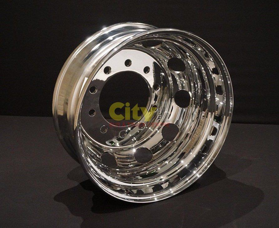10/285 8.25x22.5 Chrome Steel Drive Rims