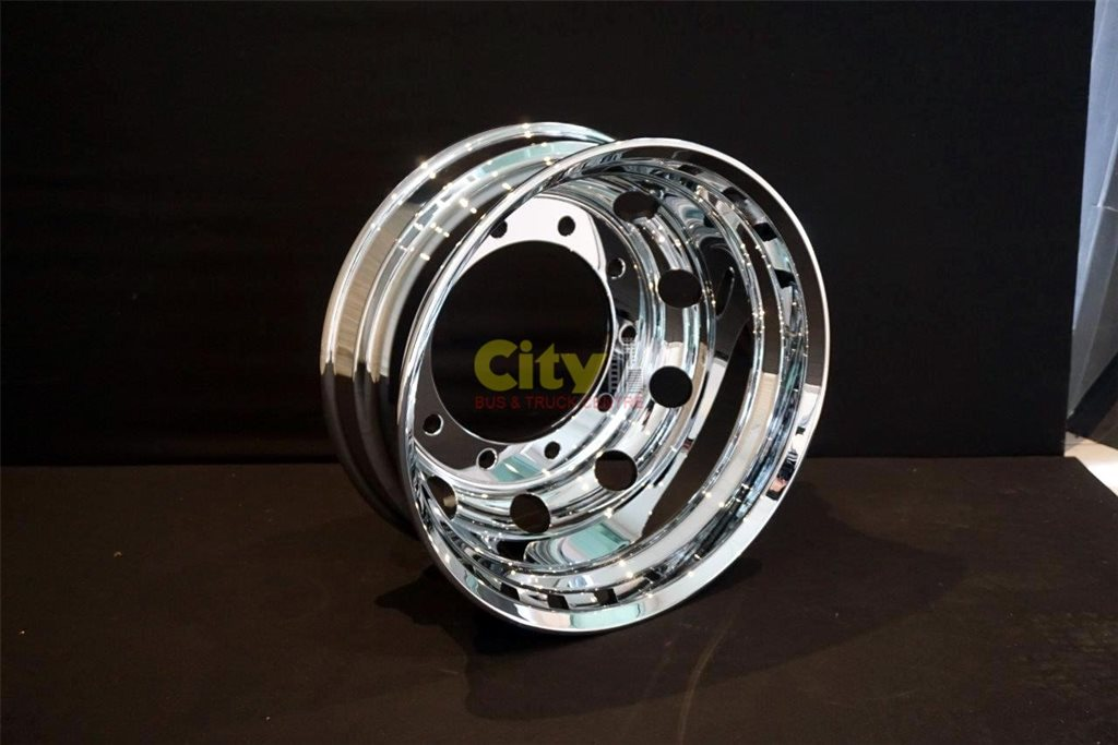 10/335 8.25x22.5 Mirror Finish Chrome Alloy Rim