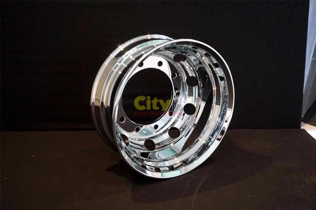 10/335 8.25x22.5 Mirror Finish Chrome Alloy Rim