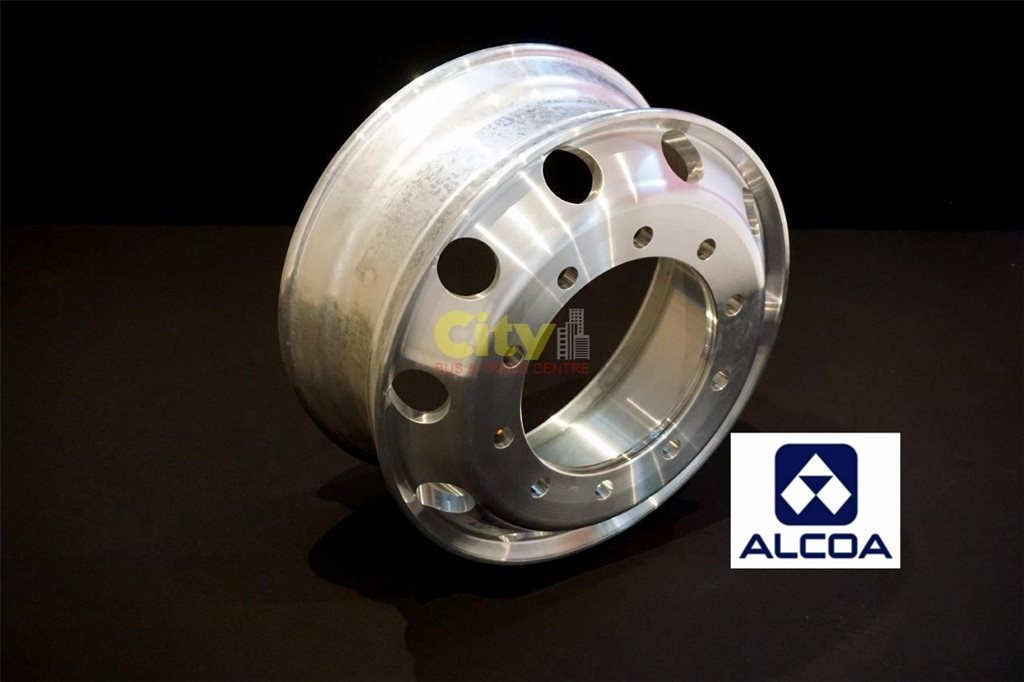 10/335 8.25x22.5 Alcoa Machined Finish Steer or Drive Alloy Rim