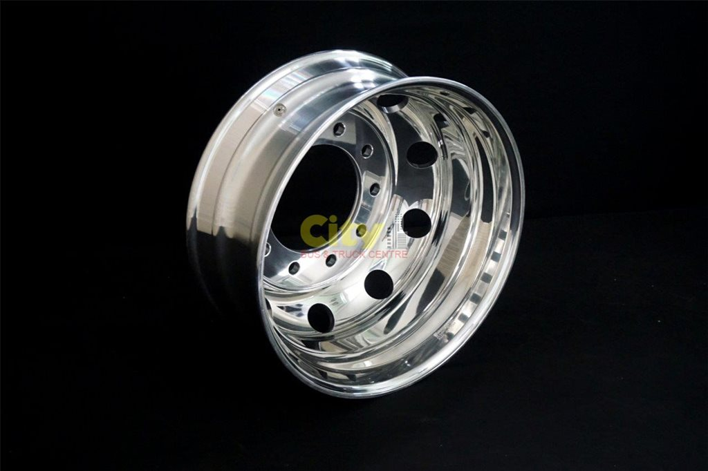 10/285 8.25x22.5 Polished Drive Alloy Rim