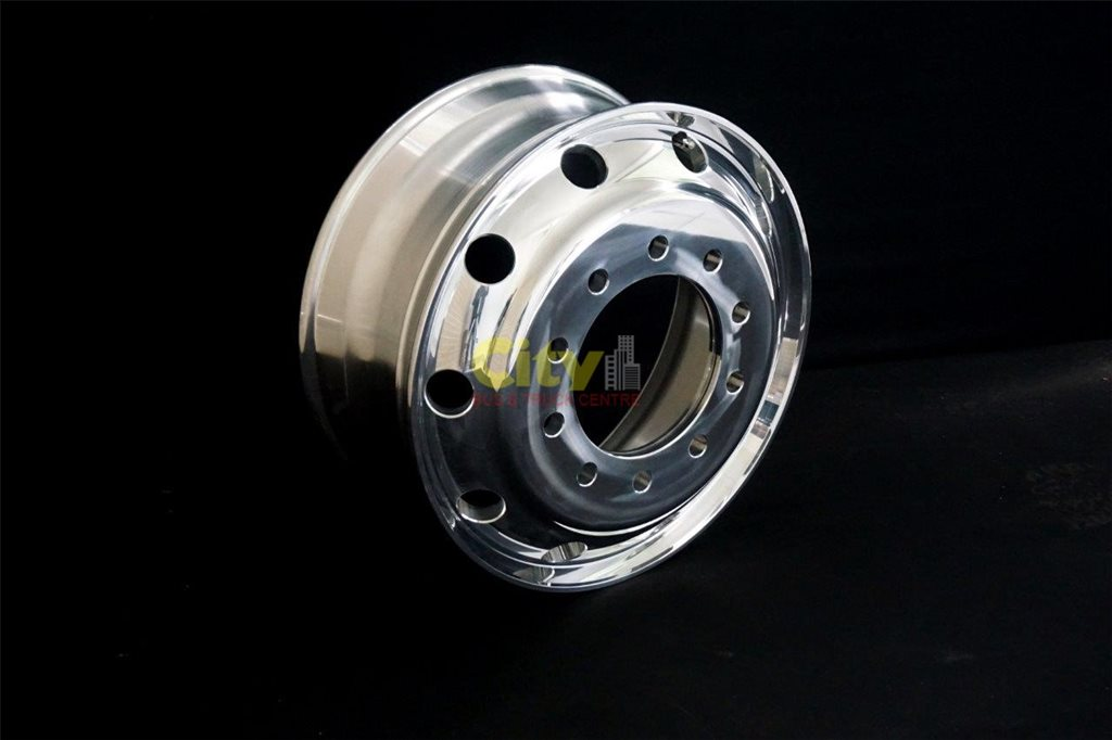 10/285 8.25x22.5 Polished Steer Alloy Rim