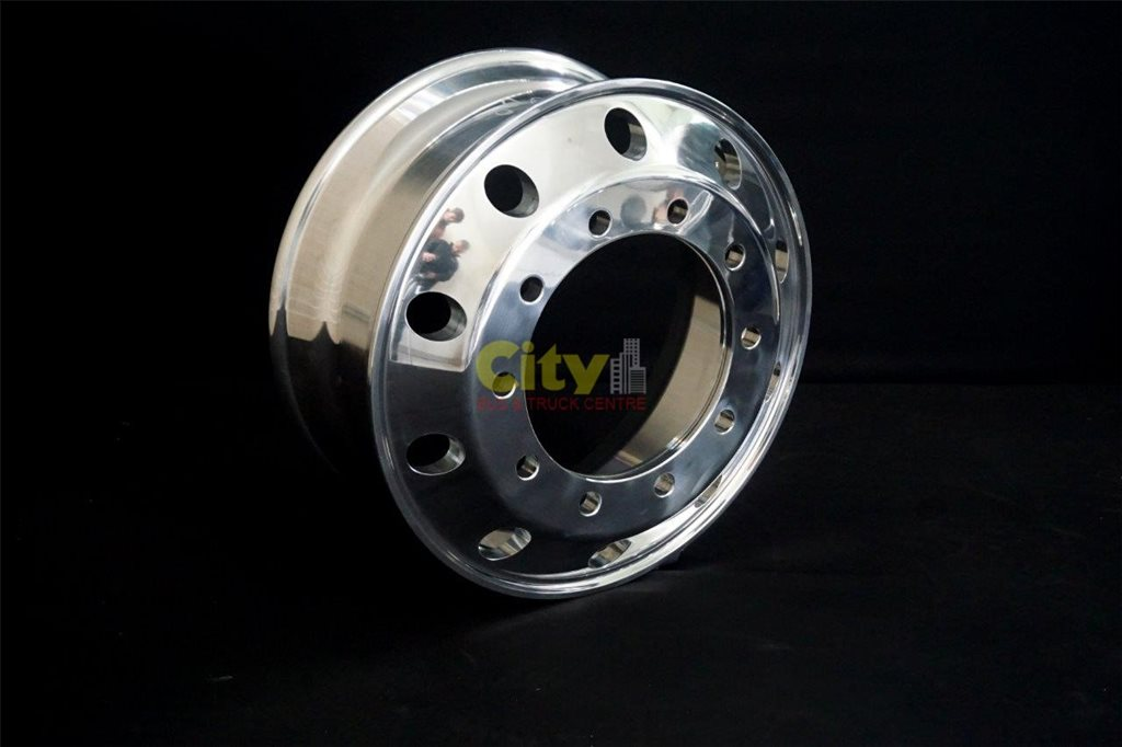 10/335 8.25x22.5 Polished Steer Alloy Rim