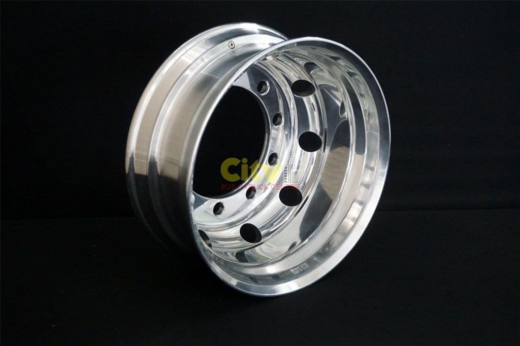 10/335 8.25x22.5 Retrofit 32mm Hole Polished Drive  Alloy Rim