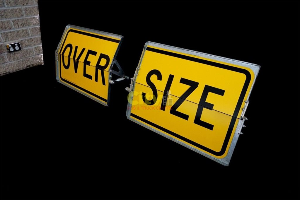 "Vertical Folding Type ""OVERSIZE"" Signs"