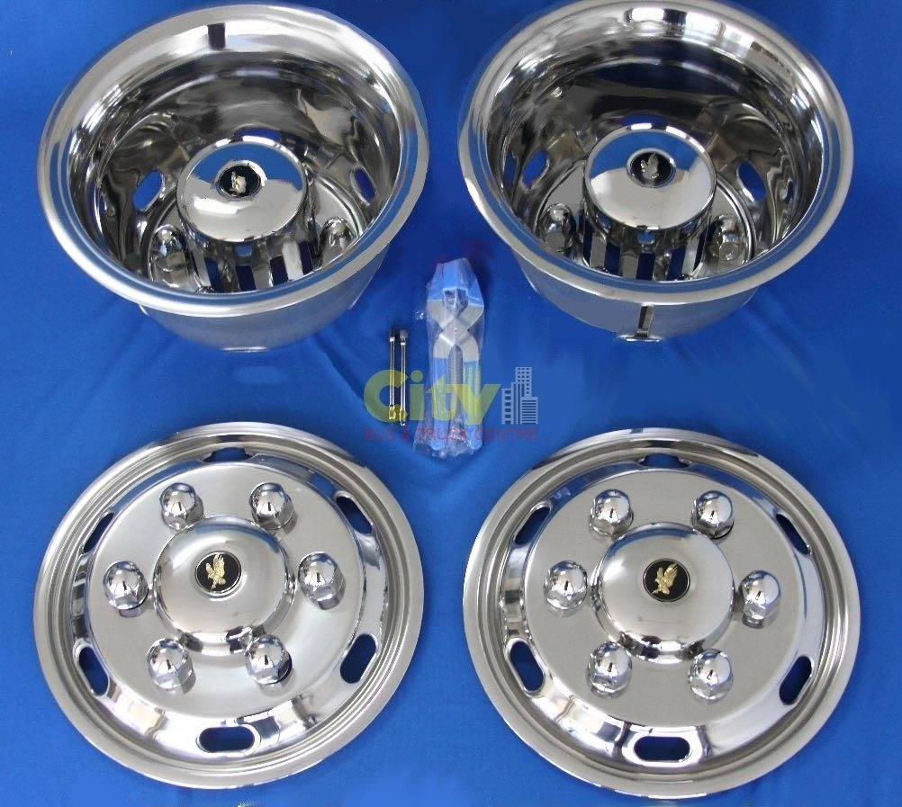 "Stainless Steel Wheel Simulator Suit 17.5"" Hino / Isuzu P#ISRT-175-6DP"