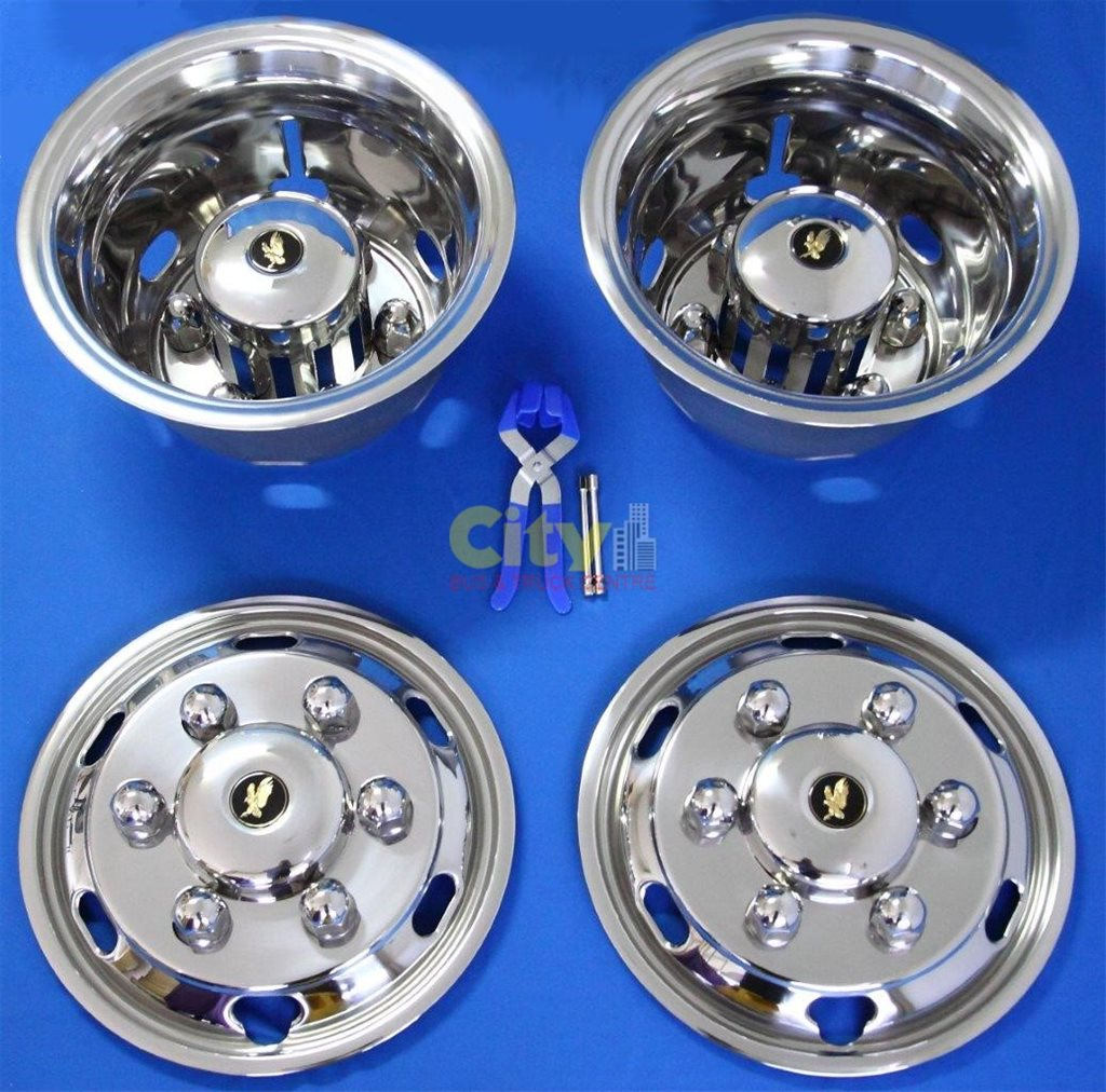 """Stainless Steel Wheel Simulator Suit 17.5"""" Fuso / UD 131mm Offset P# ISRT-175-6DP131"""