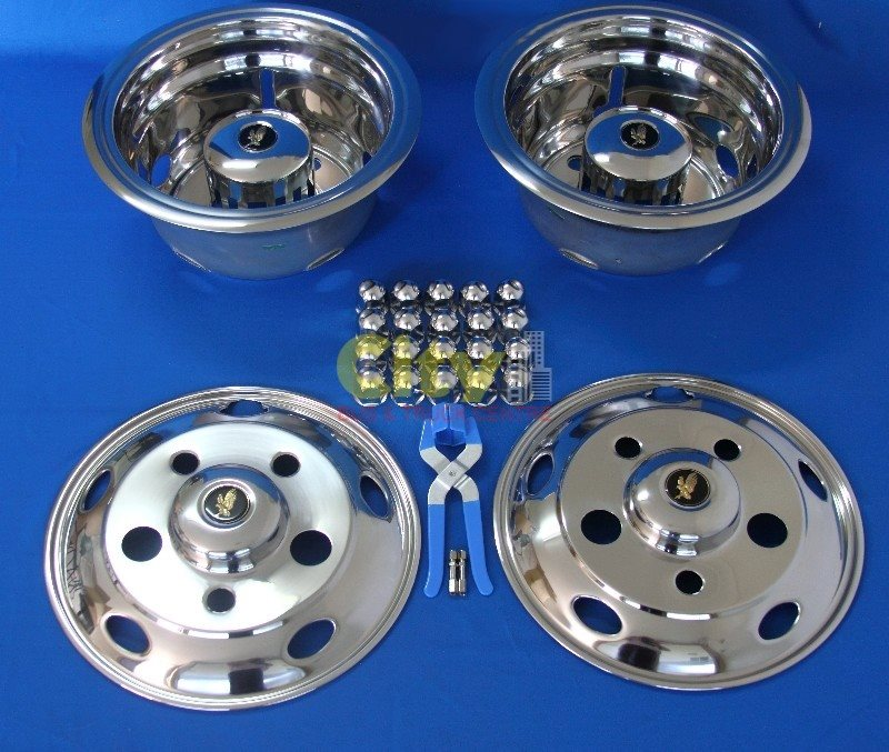 Stainless Steel Wheel Simulator Suit 2012+ Rosa Bus / Canter P# ISRT-541FUSO