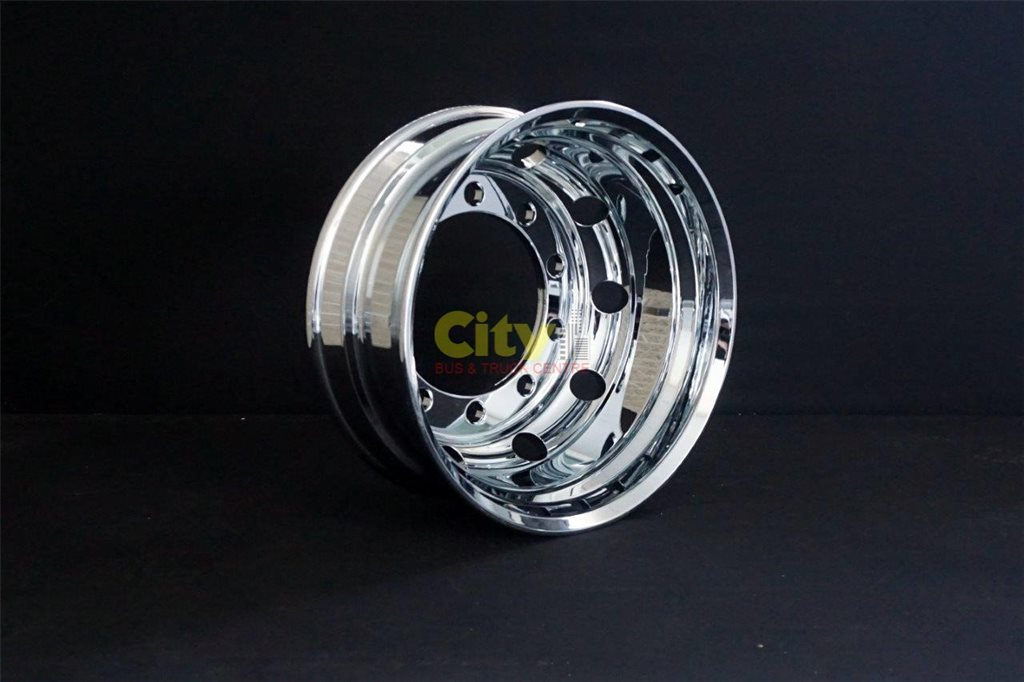 10/335 8.25x22.5 Retrofit 32mm Stud Hole Mirror Chrome Alloy Rim