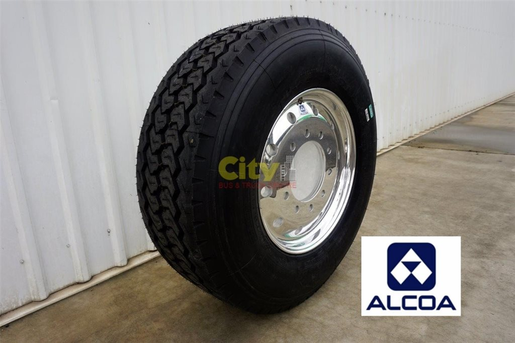 385/65R22.5 Windpower WGC28 Super Single Tyre on Alcoa Polished