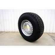 385/65R22.5 Bridgestone M748 Supersingle Steer / Trailer on 10/335 11.75x22.5 Steel Rim