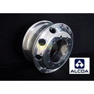 10/335 Alcoa 9.00x22.5 Polished Steer Alloy Rim