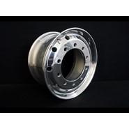 10/335 11.75x22.5 Alcoa Retrofit 32mm Stud Hole Polished Supersingle Alloy Rim